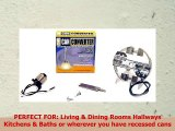 The Can Converter Model R4 Recessed Can Light Conversion Kit for 4 Recessed Can Lights