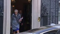 Theresa May departs No. 10 ahead of PMQs and Brussels summit