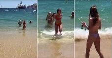 Homem acaba por filmar na praia os seus últimos 11 segundos de vida…