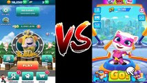 Video Talking Tom Hero Dash VS Oddbods Turbo Run (Christmas Bubbles VS Talking Angela)