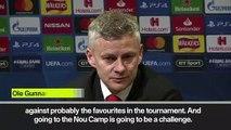 (Subtitled) 'PSG display gives us hope' - Solskjaer on Barcelona defeat