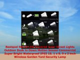 Bestqool SSL10 LED Powered Solar Street Lights Outdoor Dusk to Dawn Motion Sensor