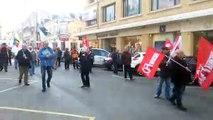Le cortège a défilé de la place de la République jusqu'à la préfecture de l'Indre à Châteauroux