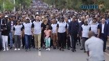 Perezida Kagame na Madamu bitabiriye Walk to Remember