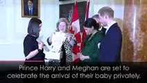 Duke and Duchess of Sussex to 'celebrate baby's arrival privately'