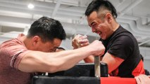 Chinese arm-wrestling yanks hard for recognition