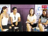 Janine Gutierrez and Aljur Abrenica on PEP TALK. 3s in 5 challenge