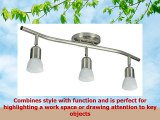 3 Light Track Lighting Wall and Ceiling Light Fixture Adjustable Interior Brushed Nickel