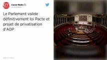 Le Parlement adopte définitivement la loi Pacte et le projet de privatisation d'Aéroports de Paris