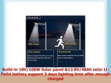 Solar Street Lights Outdoor Commercial WaterproffWireless Solar Powered with Lithium Ion