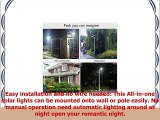 18W Solar Light Wall Lamp Homocentric Outdoor Waterproof Security Wireless Solar Powered