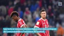 Robert Lewandowski et Kingsley Coman se battent à coups de poing durant un entraînement du Bayern Munich