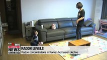 Radon concentrations in Korean homes on decline