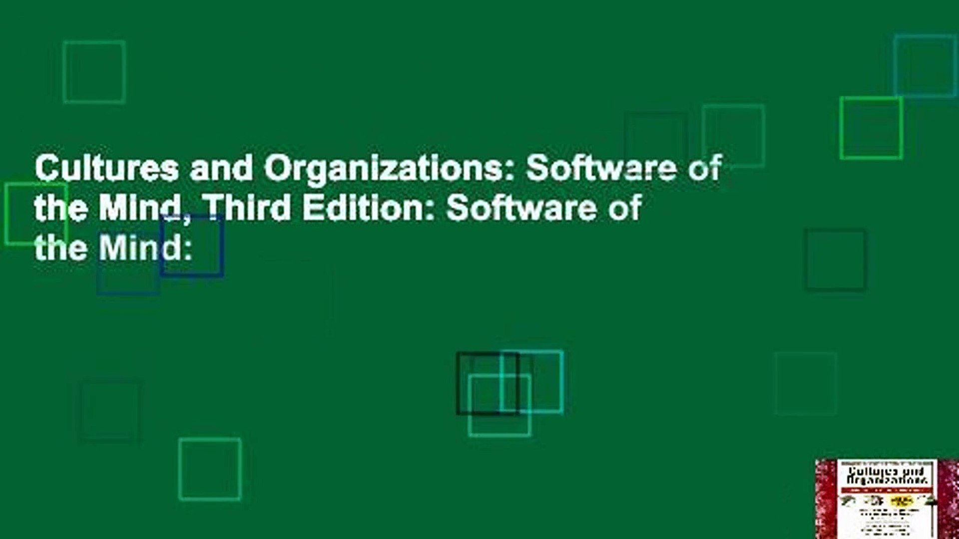 Cultures and Organizations: Software of the Mind, Third Edition: Software of the Mind: