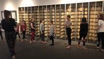 Stage de danse au musée dans le cadre de l'exposition Anatomie du mouvement