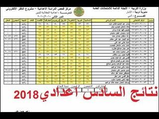 نتائج السادس اعدادي بكافة فروعة 2018 لجميع المحافظات العراقية