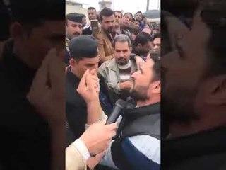 شاب عراقي خلة حتى المسؤول يبجي..والله بجاني يحجي من كل كلبة