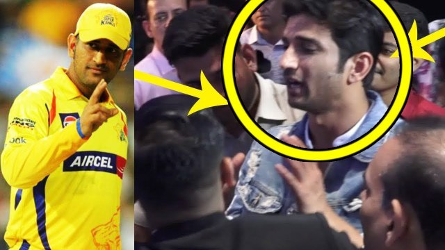 CSK VS RR _ 'Dhoni' Sushant Singh Rajput CELEBRATING IPL Victory _ IPL 2019