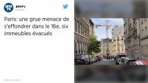 Paris. Une grue menace de s'effondrer dans le 16e arrondissement, les habitants du quartier évacués