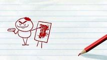 """Chat Étapes Sur Des Peintures! - """"Catson Pawlick"""" Pencilmation Drôle de Chat Dessins animés"""