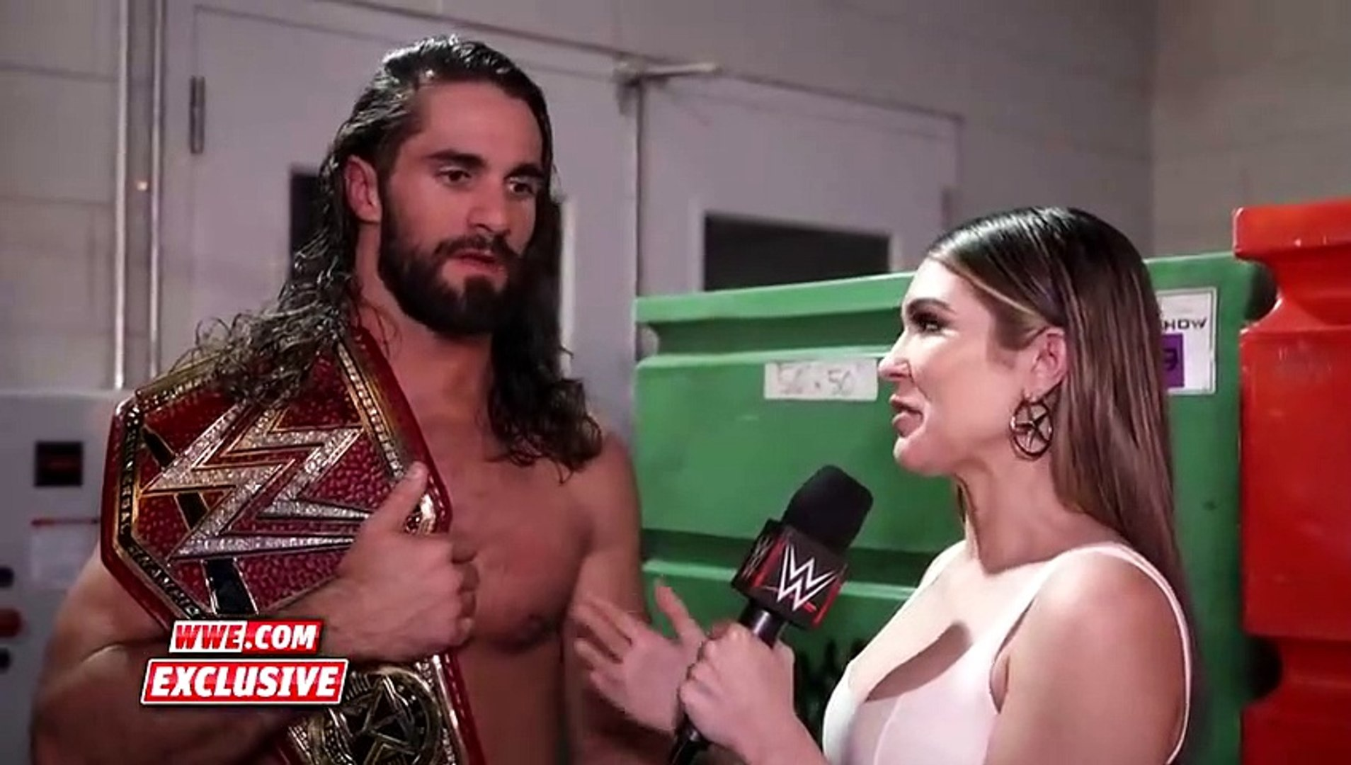 Part 9 Seth Rollins promises to be a fighting Universal Champion WWE Exclusive, April 7, 2019