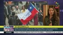 Trabajadores chilenos se movilizan contra reformas neoliberales
