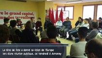 Nathalie Arthaud donne sa vision de l'Europe à Annonay