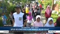 KPUD Bojonegoro Ajak Warga Jalan Sehat Demi Menekan Angka Golput