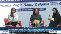 Najwa Shihab dan Virgie Baker Ajak Milenial Tak Golput