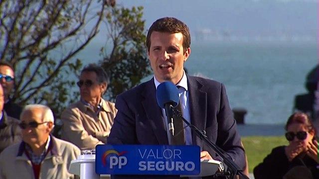 """Casado pide el voto para que Sánchez no """"revalide"""" su """"acuerdo"""" con independentistas"""