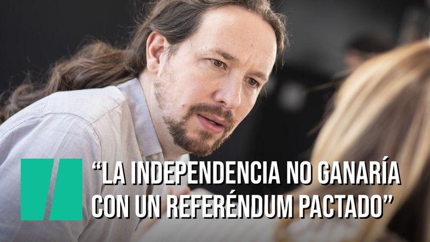 """Pablo Iglesias: """"La independencia no ganaría en un referéndum"""""""