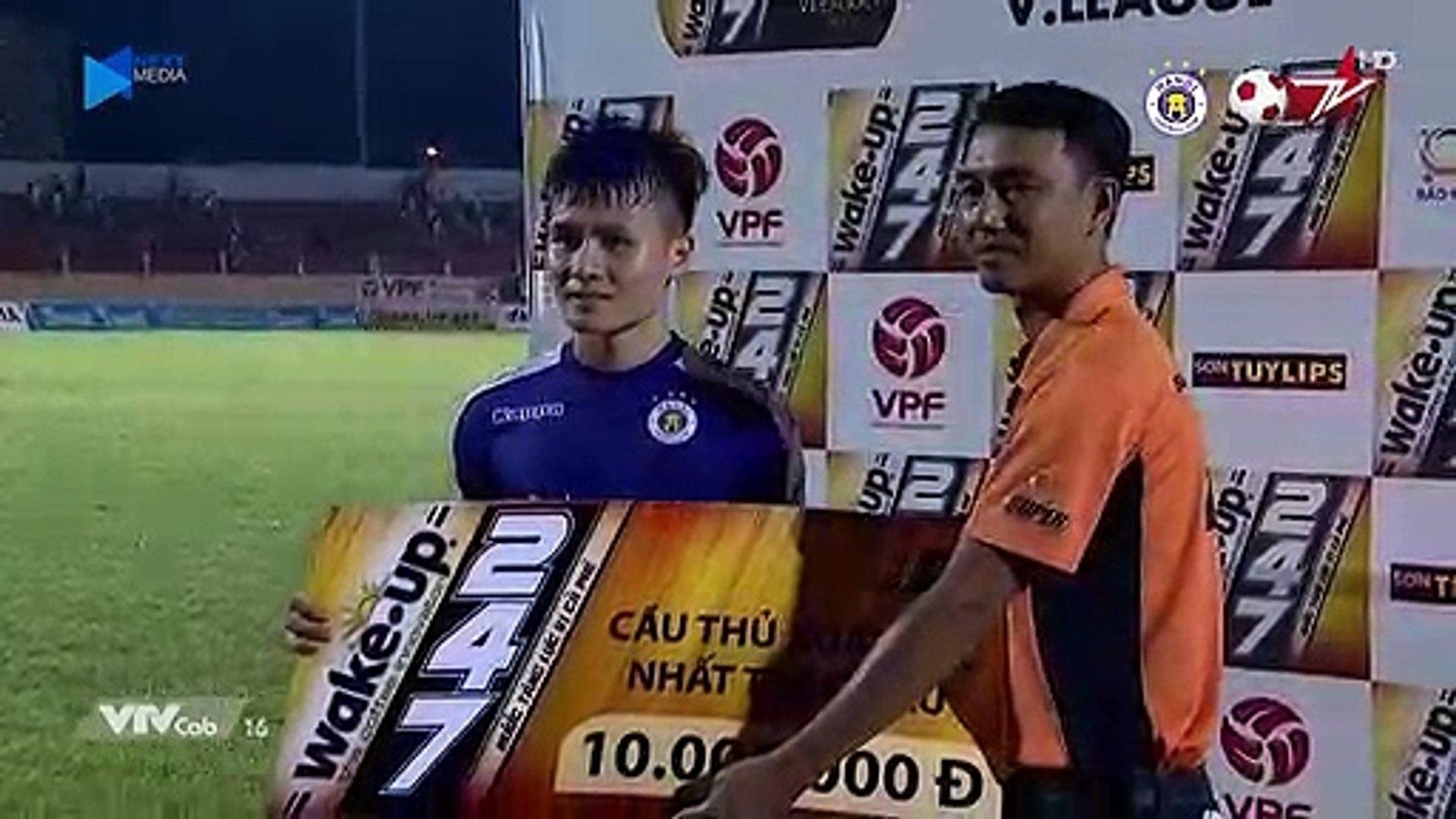 Quảng Hải liên tiếp 2 lần là cầu thủ xuất sắc nhất trận đấu | HANOI FC