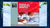 Manual of Emergency Medicine (Manual of Emergency Medicine (Lww Spiral Manual)) (Lippincott Manual
