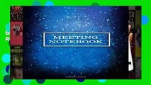 Online Meeting Notebook: Business Meeting Book for Secretary and Professional Meeting Record - 120