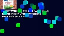 [MOST WISHED]  The PDR Pocket Guide to Prescription Drugs (Physicians  Desk Reference Pocket