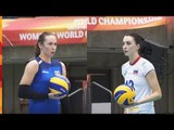 วอลเลย์บอลหญิงชิงแชมป์โลก 2018   อาเซอร์ไบจาน Vs รัสเซีย   รอบแรกกลุ่ม C