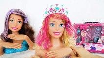 Barbie Tête à coiffer Relooking-Coupe de cheveux Éclat Haare schneiden Coupe de cheveux Potongan rambut boneka