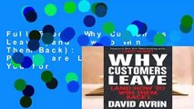 Full E-book Why Customers Leave (and How to Win Them Back): (24 Reasons People are Leaving You for