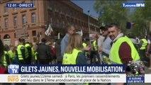 Près d'un millier de gilets jaunes commencent à manifester à Toulouse