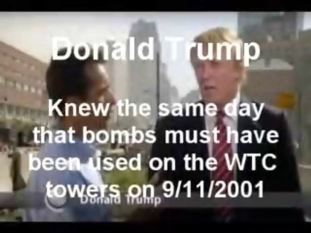 Trump saw on 9/11 bombs were used in WTC