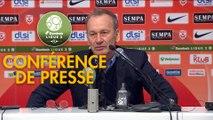Conférence de presse AS Nancy Lorraine - Stade Brestois 29 (2-3) : Alain PERRIN (ASNL) - Jean-Marc FURLAN (BREST) - 2018/2019