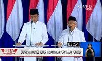 Pernyataan Penutup Jokowi-Ma'ruf di Debat Final Pilpres 2019