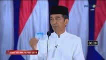 Jokowi Kembali Pamer Tiga Kartu Andalan di Debat Terakhir