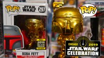 Star Wars Celebration 2019 Boba Fett Chrome Funko Pop Galactic Exclusive Detailed Look #StarWars