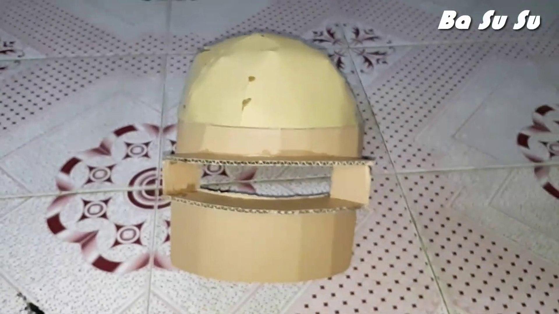 Hướng dẫn làm mũ 3 Pubg bằng giấy cực cute | helmet 3 pubg | Ba Su Su