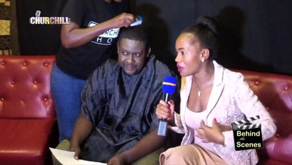 Churchill takes us  Behind the scenes during reggae edition