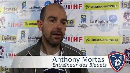 Mondial U18 D1A. La réaction d'Anthony Mortas après deux journées