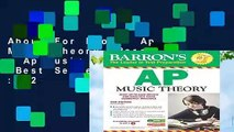 About For Books  Ap Music Theory (Barron s Ap Music Theory)  Best Sellers Rank : #2