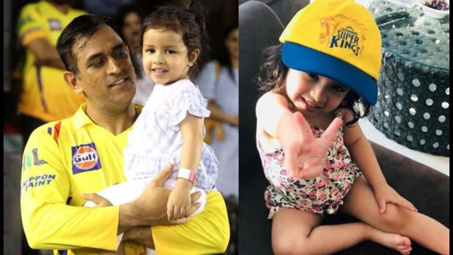 KKR Vs CSK - MS Dhoni CUTE Daughter ZIVA Comes To SUPPORT Father's CSK Team - IPLT20 - IPL 2019