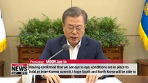 Conditions are in place for another inter-Korean summit: Pres. Moon